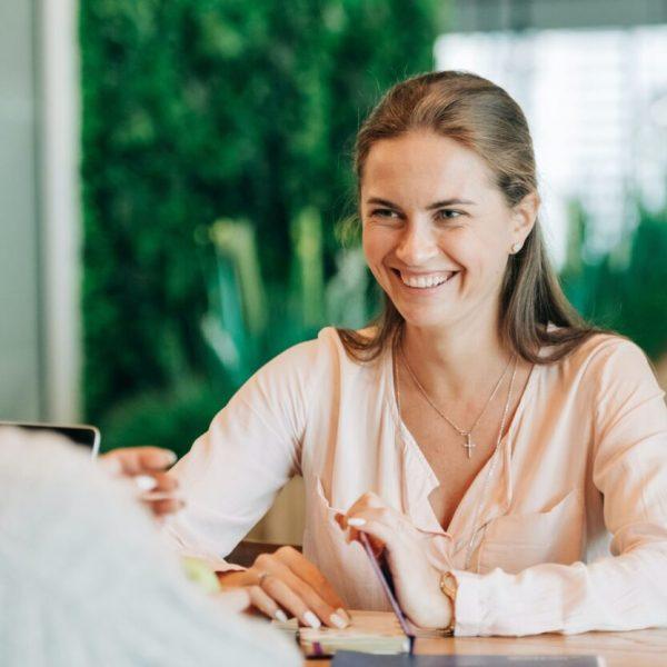 gesprek met een financiele planner